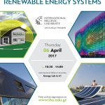 (Greek) Workshops | Solar Energy and Hydrogen Applications & Building Integrated Renewable Energy Systems | 4 & 6 Απριλίου 2017 | Διεθνές Πανεπιστήμιο της Ελλάδος